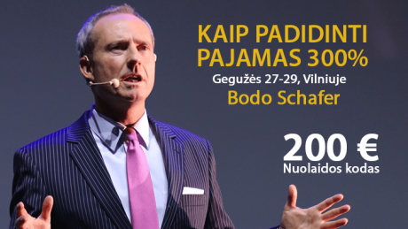 """Bodo Schafer – """"KAIP PADIDINTI PAJAMAS 300%"""""""