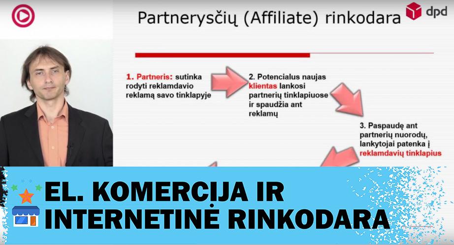 Partnerysčių rinkodara (affiliate marketing) elektroniniams verslams