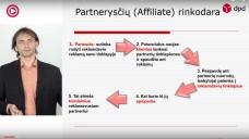 """VLADAS SAPRANAVIČIUS – """"Partnerysčių rinkodara (affiliate marketing) elektroniniams verslams"""""""
