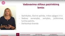 """VEGA DIKČIENĖ – """"Kas yra geras vadovas: darbuotojų orientavimas įmonės tikslams pasiekti"""""""
