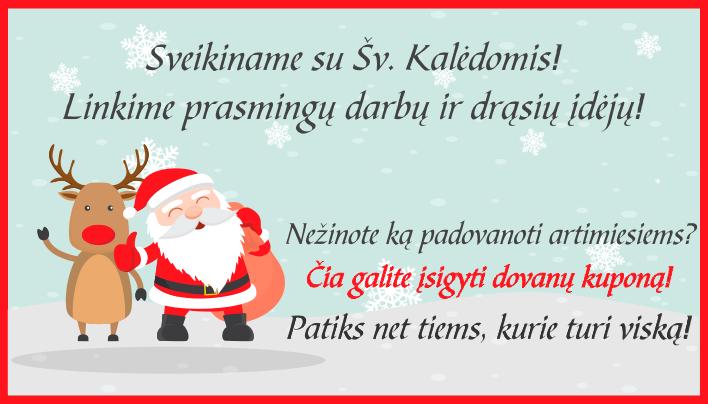 Sveikiname visus su Šv. Kalėdomis!