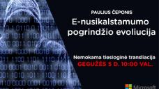"""PAULIUS ČEPONIS  –  """"E-nusikalstamumo pogrindžio evoliucija"""""""