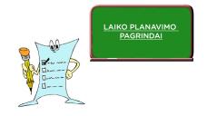 Laiko planavimo pagrindai