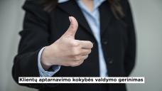 klientų aptarnavimo kokybė