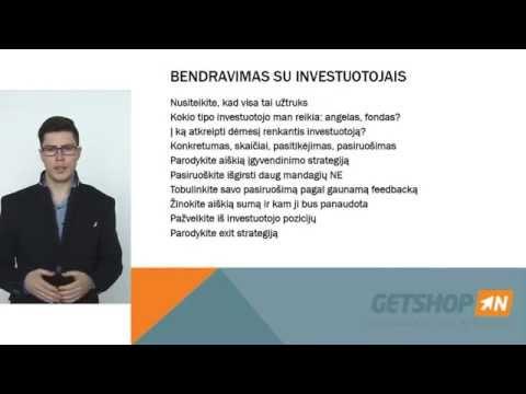 """ANDRIUS ČEPKUS – """"Investicijų pritraukimas savo verslui"""""""