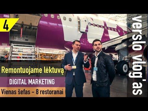 4 laida: Lėktuvų remonto verslas. Kiek kainuoja atsidaryti restoraną? Skaitmeninis marketingas.