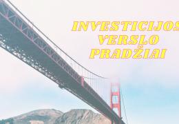 Investicijos verslo pradžiai